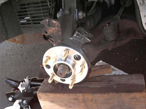 Wheel bearing replacement in a GM A-body with JM4 brakes